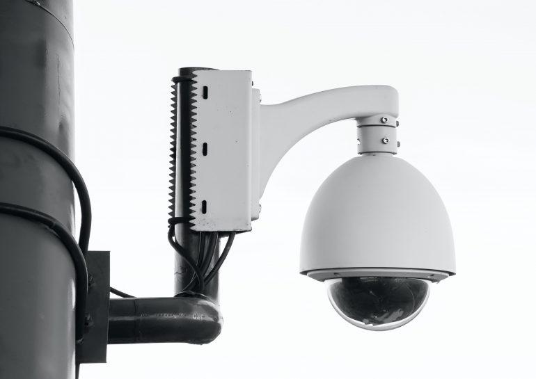 cctv camera with bracket